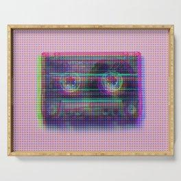 Dot glitch cassette Serving Tray