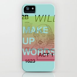 Make Up Words iPhone Case