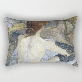 """Henri de Toulouse-Lautrec """"Rousse (La Toilette)"""" Rectangular Pillow"""