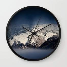 Looking Through The Mist Wall Clock