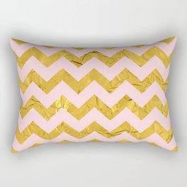 Golden chevron and pink Rectangular Pillow