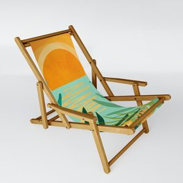 Peaceful Tropics / Sunset Landscape Sling Chair