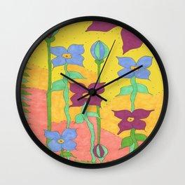 Sunshine Garden Bohemian Art Wall Clock
