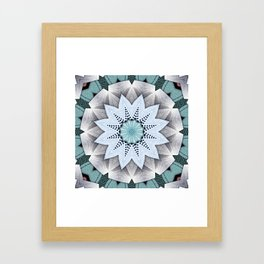 Turquoise Layers Mandala Framed Art Print