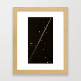 Kendall - Uranography; or a Description of the Heavens (1850) - The Great Comet of 1843, near Rigel Framed Art Print
