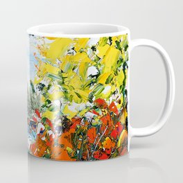 Landscape painting- The departure - by LiliFlore Coffee Mug