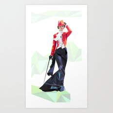 Polygone lady 1 Art Print