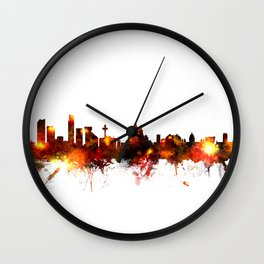 Liverpool England Skyline Wall Clock