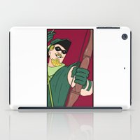 green arrow iPad Cases featuring Green Arrow by Chelsea Herrick