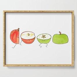 Apple Halves Serving Tray