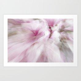 Pink Magnolia Swirl Art Print