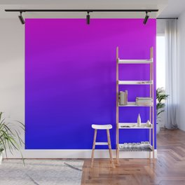 Fuchsia/Violet/Blue Ombre Wall Mural
