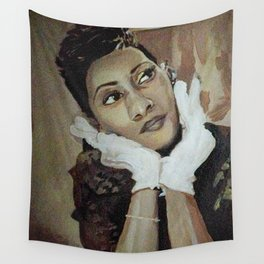 Lady in White Gloves Wall Tapestry