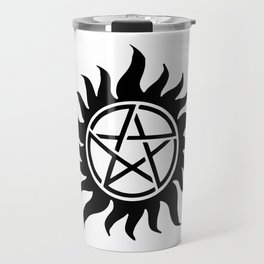 Anti Possession Sigil Black Travel Mug