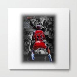 Jordan reverse dunk in oil painting style Metal Print