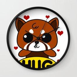 Red Panda Giant Bear Forest Endangered Animal Gift Wall Clock