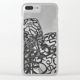 Iron statue Clear iPhone Case