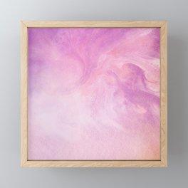 Artistic Watercolour Marble Pink Framed Mini Art Print