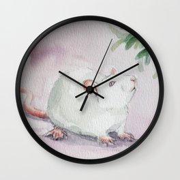 Mistletoe rat Wall Clock
