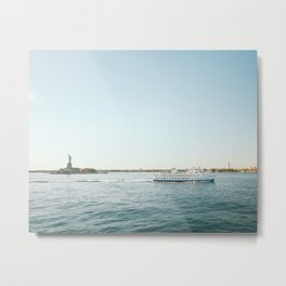 Ferry to the Manhattan, New York City | Creative NYC architecture and lines | Cityscape travel photography Metal Print