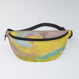 Yellow & Purple Clouds Fanny Pack