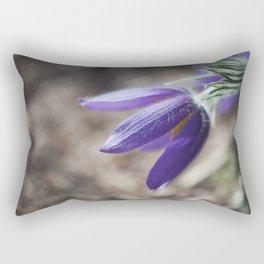 Purple Pasque Flower Rectangular Pillow