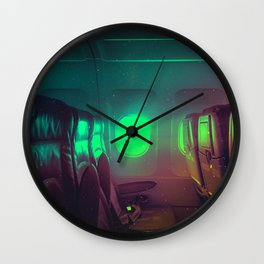 Alone in the air by #Bizzartino Wall Clock
