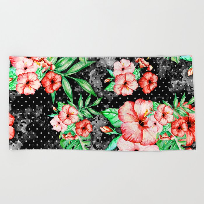 Colorful Hibiscus Beach Towel