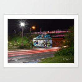 Pensacola Graffiti Bridge Art Print