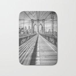 NEW YORK CITY Brooklyn Bridge | Panorama Bath Mat