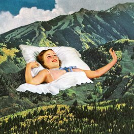 Framed Art Print - Rising Mountain - Eugenia Loli