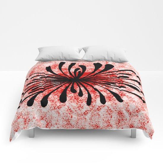 Doodled Mooka Flower Comforters