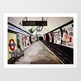 London Underground Goodge Street Art Print