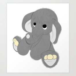 Stuffed Elephant Art Print