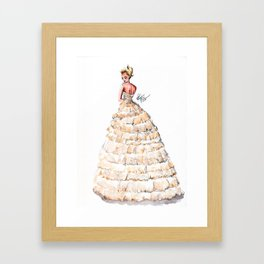 Fashion Watercolor Couture Gown Framed Art Print