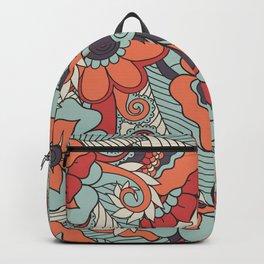 Colorful Vintage Floral Pattern Backpack