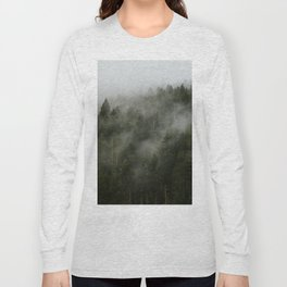Pacific Northwest Foggy Forest Long Sleeve T-shirt