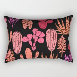 Cute Cactus & Cacti Pattern Rectangular Pillow