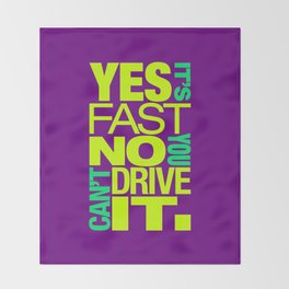 Yes it's fast No you can't drive it v7 HQvector Throw Blanket