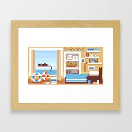 Scenery: Ship's Room Framed Art Print