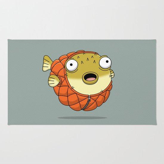Puffer fish Rug