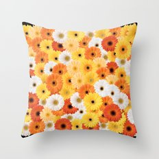 Covered in Gerberas Throw Pillow