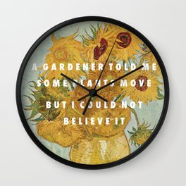 Hunting for Sunflowers Wall Clock
