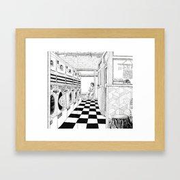 Coffee & Laundry (No Type) Framed Art Print