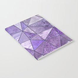 Purple Lilac Glamour Shiny Stained Glass Notebook