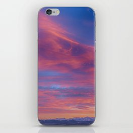 Pink Cotton Candy Sunset iPhone Skin