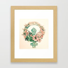 Cultivate Resistance Framed Art Print