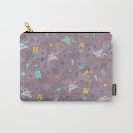 Cat mermaids under the sea. Funny elephant and unicorn kitty. Carry-All Pouch