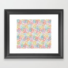 Colored pattern Framed Art Print