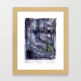 LYING NEXT TO YOU Framed Art Print